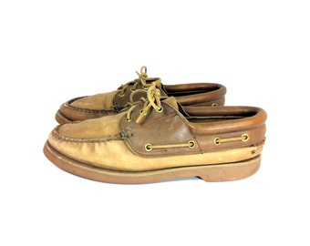 Leather Boat Shoes 8 - Sperry Top Siders 8 - Leather Loafers 8
