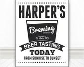 Custom Beer Tasting Sign Print, Beer Print, Beer Art, Bar Art, Bar Print, Bar Sign, Beer Sign, Kitchen Art, Multiple Sizes