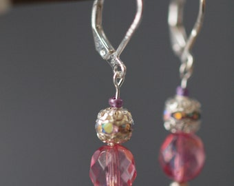 Pink Disco Earrings