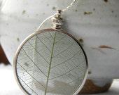 Memories of Spring... Springtime Keepsake, Green Leaf Necklace, Firefly Gardens - FireFlyGardens