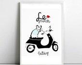 FRENCH BULLDOG - france - dog print - Frenchie - Bouledogue Francais - french bulldog art print