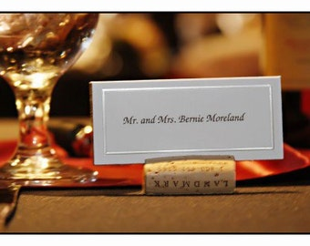 Wine Cork Place Card Holders made of Upcycled Wine Corks (set of 15)