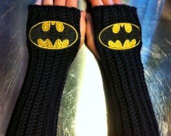 BATMAN DC COMICS Arm warmers / Fingerless gloves / Wrist warmers handmade
