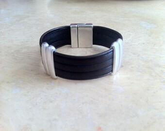 Mens leather  bracelet, leather bracelet for men,  bracelet for men, genuine leather. brown bracelet
