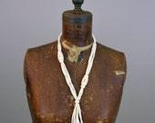 Vintage 1970s Necklace - 70s Necklace - Carved Bone Necklace