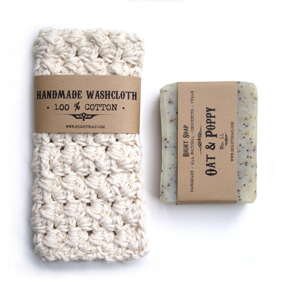 Bath set soap and washcloth pick your natural soap by for Mens bath set