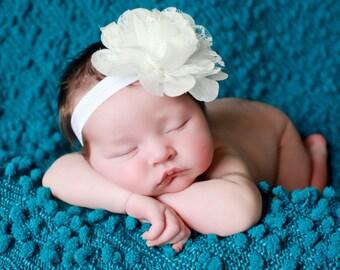 White Baby Headbands, Baby Headband, Baptism Baby Headband, Infant Headbands, Headbands Babies, Headbands for Baby, Baby Headband