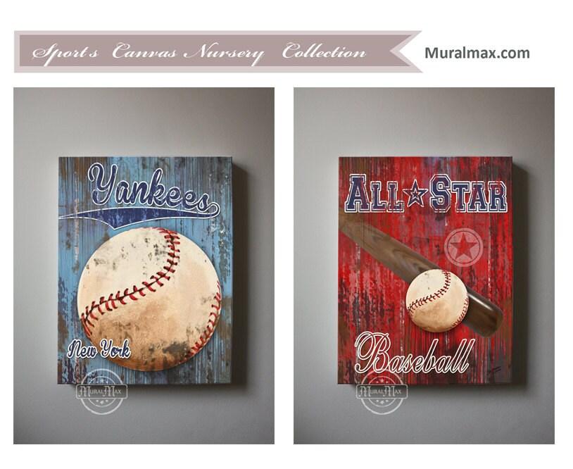 baseball new york yankees sports art baseball by muralmax