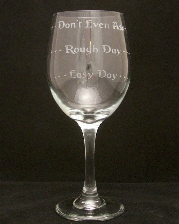 good day bad day wine glasses mothers day gifts birthday