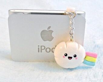 Kawaii Cloud Rainbow Dust Plug, For iPhone or iPod, Cute :D