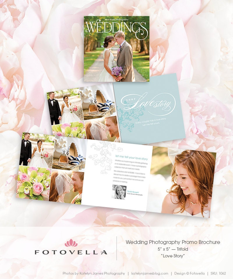 Wedding Photography Marketing Ideas: Wedding Photography Marketing 5x5 Trifold Brochure By