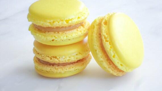 French Macaron Cookies 12 Lemon Almond Cream Macaroons Gift Splendid Sweet