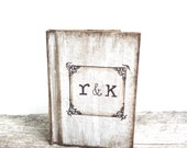 Rustic Guest Book with Personalized Initials - Rustic Weddings - (GB-2)