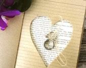 Ring Bearer Pillow Book with Personalization, 5x7, Rustic Vintage Wedding, Book Themed Wedding, Wedding Keepsake