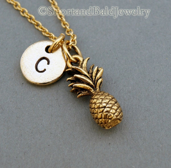 Pineapple Necklace Pineapple Charm Necklace By