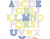 Cooper Applique Alphabet with Numbers Machine Embroidery Designs