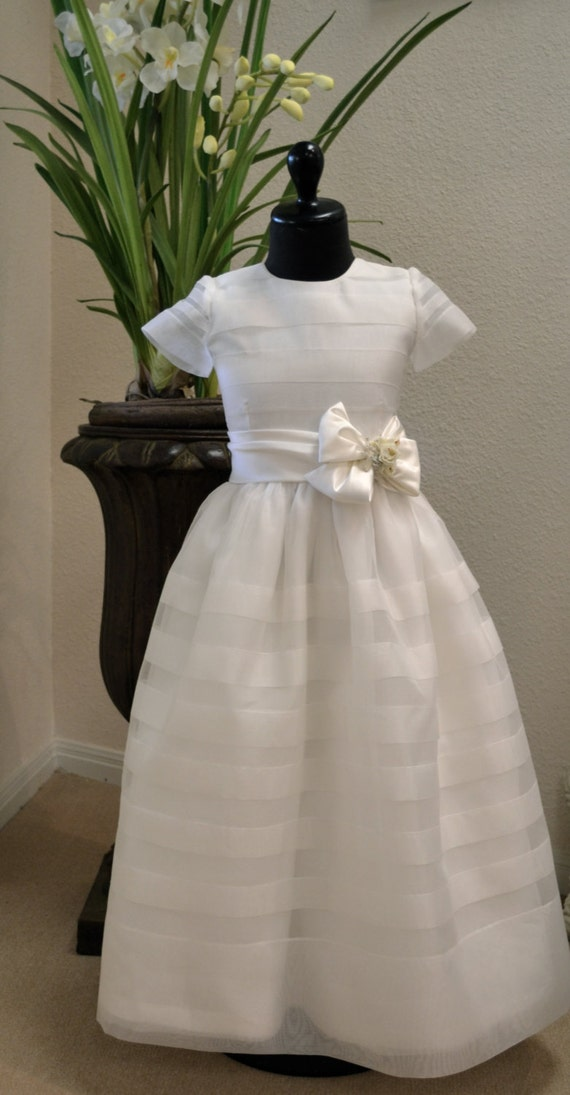 Flower Girl Dress First Communion Dress By Couturesbylaura