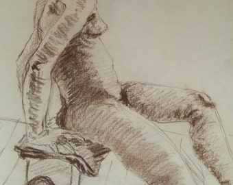 Five Drawings of female figures