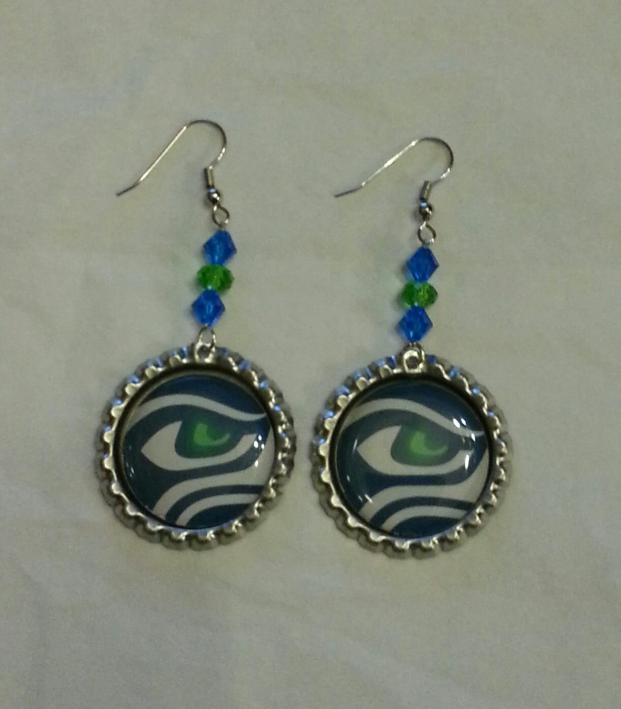 seahawks jewelry seattle seahawks bottle cap earrings 1460
