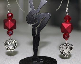 Red Heart Love Earrings