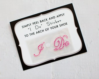 Pink I Do Stickers for Brides Shoes, Wedding Shoe Sticker, Bridal Details | PINK