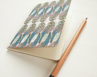 Mini journal covered with Budgies fine paper