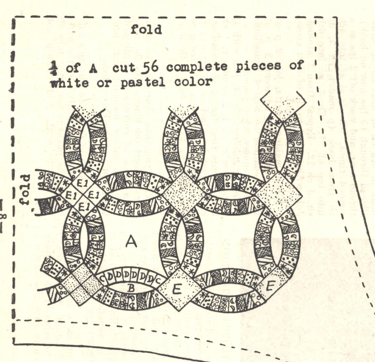 1947 Double Wedding Ring Pdf Quilt Pattern