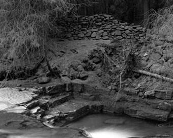 Black and white limited edition fine art darkroom photograph. Peak District, Derbyshire
