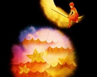 Dream Catcher (Moon, Stars, Dreams)