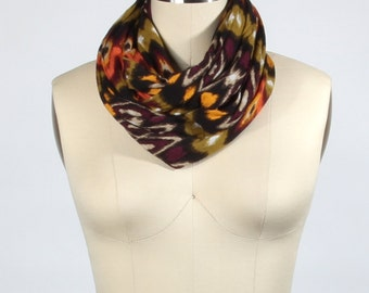 Tribal Scarf: Earth Tones Infinity Scarf Tribal Infinity Loop Scarf - Jersey Scarf