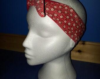 Rockabilly- SWEET FLOWERS HAIRTIE/Head scarf