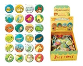 Pinback Animal Buttons by boygirlparty - pinback buttons with animal illustrations
