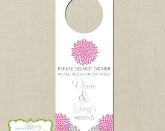 Bridal Shower Gift Destination Wedding : wedding door hangers set of 10 mu ms wedding favors out of town bags ...