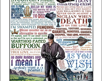 "As You Wish- Princess Bride tribute- 11"" x 14"" signed print"