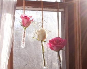 Glass Hanging Vase Set