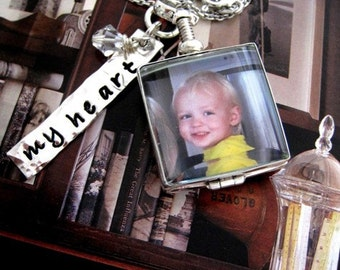 Personalized Square Picture Photo Locket Neckace