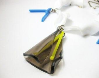 Flower statement necklace - contemporary jewellery - acrylic jewelry