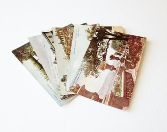 1940s Barcelona Spain Vintage Postcards - European Travel Souvenir Collection - Sepia Post Card Set - Paper Ephemera Vacation Memorabilia