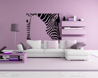 Beautiful Zebra Art, Zebra Wall Decal, Zebra Room Decor, Zebra Decal, Zebra Decor