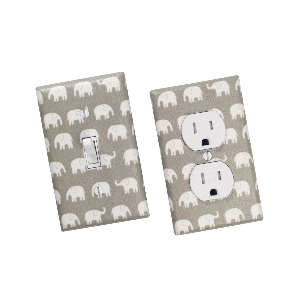 Gray Elephant Light Switch Plate Outlet Cover Gender