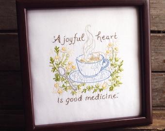 A Joyful Heart - 100% Cotton Embroidery Pattern