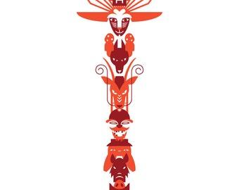 Studio Ghibli Totem Poster