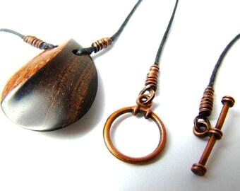 Teardrop - Leopard Wood and African Blackwood, pendant, necklace