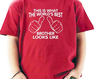 Brother Shirt - Youth Shirt - I'm the world's best brother. youth t-shirt. T-shirt for boys. Little brother t-shirt
