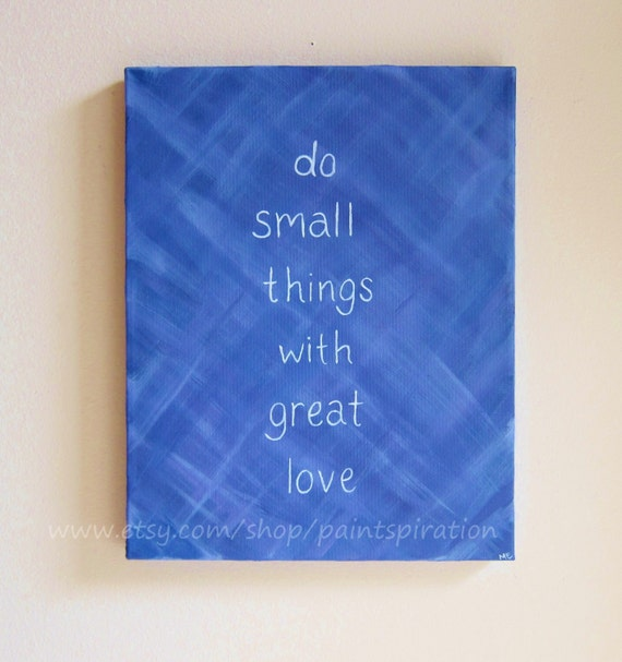 Inspirational quotes canvas painting mother teresa quote do for Inspirational quotes painted on canvas