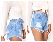 All sizes Destroyed Grunge Distress  Daisy Dukes  High Waist Shorts Plus sizes