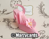 FLORAL Shoe Gift Box Flower Favors (c) MARZYCARDS Haute Luxury Pink CARD K I T M I Y Favors - 10 Birthday Party Bridal Shower Slippers
