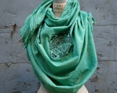St.Patrick's Day sale Green Scarf,  Celtic Cross, Irish Shawls and Wraps, fall Accessories, Irish