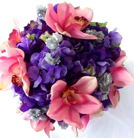 lila hortensie bouquet rosa hochzeitsstrau von. Black Bedroom Furniture Sets. Home Design Ideas