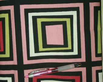 Retro Squares fabric - SALE! 2+ yards for 15 bucks! Normally 12/yard. New. FREE US Shipping